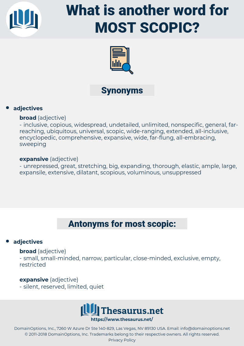 most scopic, synonym most scopic, another word for most scopic, words like most scopic, thesaurus most scopic