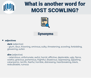 most scowling, synonym most scowling, another word for most scowling, words like most scowling, thesaurus most scowling