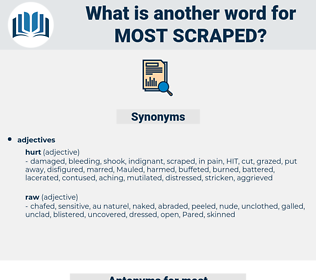 most scraped, synonym most scraped, another word for most scraped, words like most scraped, thesaurus most scraped