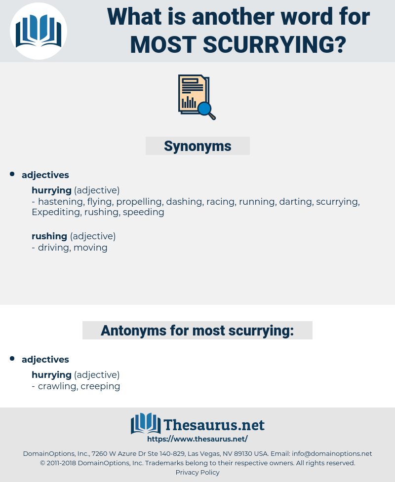 most scurrying, synonym most scurrying, another word for most scurrying, words like most scurrying, thesaurus most scurrying