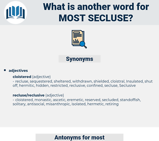 most secluse, synonym most secluse, another word for most secluse, words like most secluse, thesaurus most secluse
