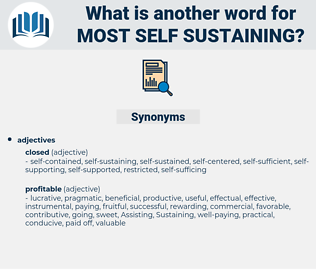 most self-sustaining, synonym most self-sustaining, another word for most self-sustaining, words like most self-sustaining, thesaurus most self-sustaining