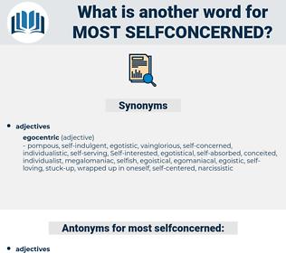 most selfconcerned, synonym most selfconcerned, another word for most selfconcerned, words like most selfconcerned, thesaurus most selfconcerned