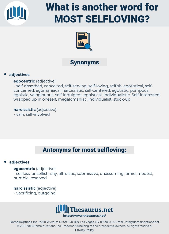 most selfloving, synonym most selfloving, another word for most selfloving, words like most selfloving, thesaurus most selfloving