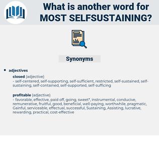 most selfsustaining, synonym most selfsustaining, another word for most selfsustaining, words like most selfsustaining, thesaurus most selfsustaining