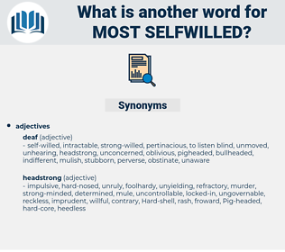most selfwilled, synonym most selfwilled, another word for most selfwilled, words like most selfwilled, thesaurus most selfwilled