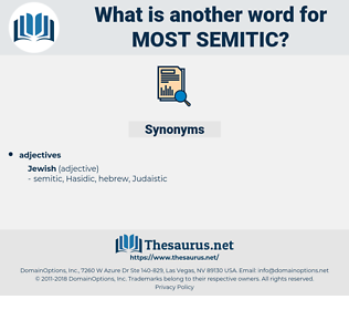 most semitic, synonym most semitic, another word for most semitic, words like most semitic, thesaurus most semitic