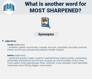 most sharpened, synonym most sharpened, another word for most sharpened, words like most sharpened, thesaurus most sharpened