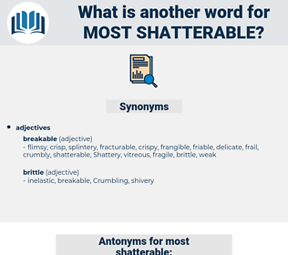 most shatterable, synonym most shatterable, another word for most shatterable, words like most shatterable, thesaurus most shatterable