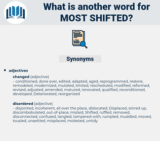 most shifted, synonym most shifted, another word for most shifted, words like most shifted, thesaurus most shifted