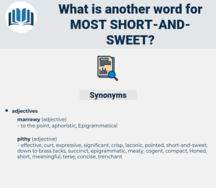 most short-and-sweet, synonym most short-and-sweet, another word for most short-and-sweet, words like most short-and-sweet, thesaurus most short-and-sweet