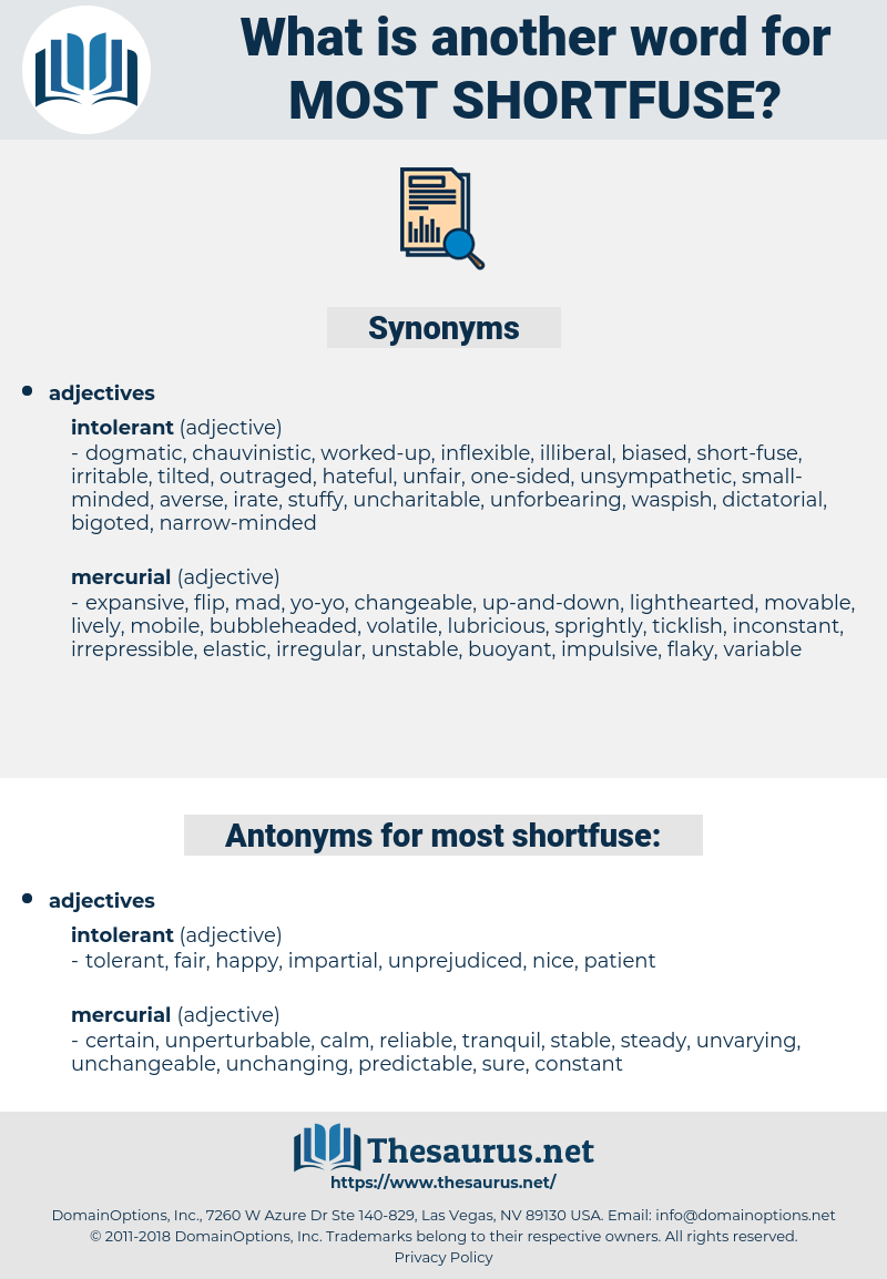 most shortfuse, synonym most shortfuse, another word for most shortfuse, words like most shortfuse, thesaurus most shortfuse