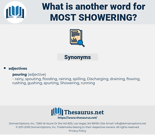 most showering, synonym most showering, another word for most showering, words like most showering, thesaurus most showering