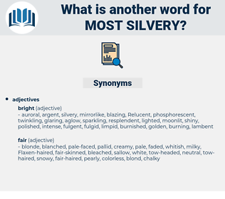 most silvery, synonym most silvery, another word for most silvery, words like most silvery, thesaurus most silvery