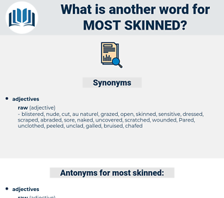 most skinned, synonym most skinned, another word for most skinned, words like most skinned, thesaurus most skinned
