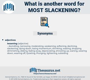 most slackening, synonym most slackening, another word for most slackening, words like most slackening, thesaurus most slackening