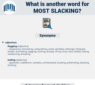 most slacking, synonym most slacking, another word for most slacking, words like most slacking, thesaurus most slacking