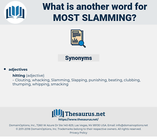 most slamming, synonym most slamming, another word for most slamming, words like most slamming, thesaurus most slamming