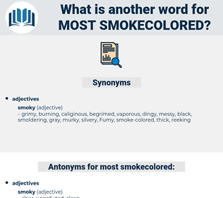 most smokecolored, synonym most smokecolored, another word for most smokecolored, words like most smokecolored, thesaurus most smokecolored