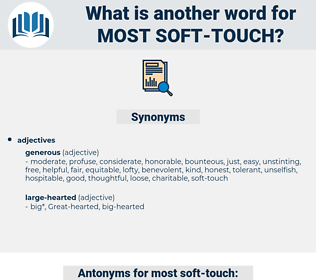 most soft touch, synonym most soft touch, another word for most soft touch, words like most soft touch, thesaurus most soft touch