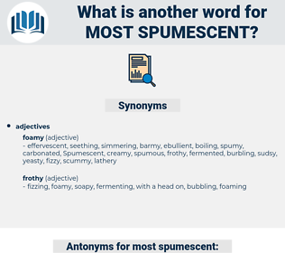 most spumescent, synonym most spumescent, another word for most spumescent, words like most spumescent, thesaurus most spumescent