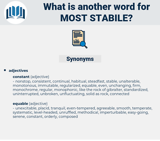 most stabile, synonym most stabile, another word for most stabile, words like most stabile, thesaurus most stabile