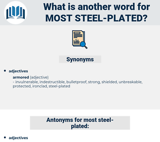 most steel plated, synonym most steel plated, another word for most steel plated, words like most steel plated, thesaurus most steel plated