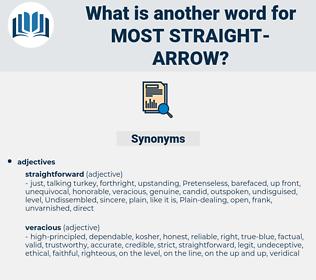 most straight arrow, synonym most straight arrow, another word for most straight arrow, words like most straight arrow, thesaurus most straight arrow