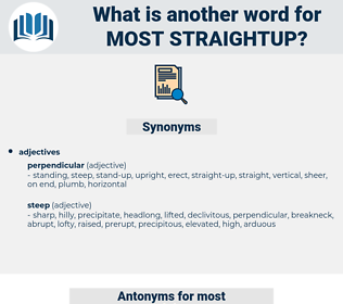 most straightup, synonym most straightup, another word for most straightup, words like most straightup, thesaurus most straightup