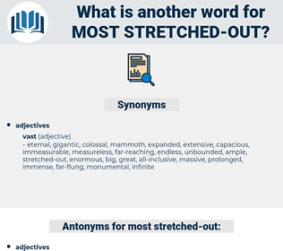 most stretched-out, synonym most stretched-out, another word for most stretched-out, words like most stretched-out, thesaurus most stretched-out
