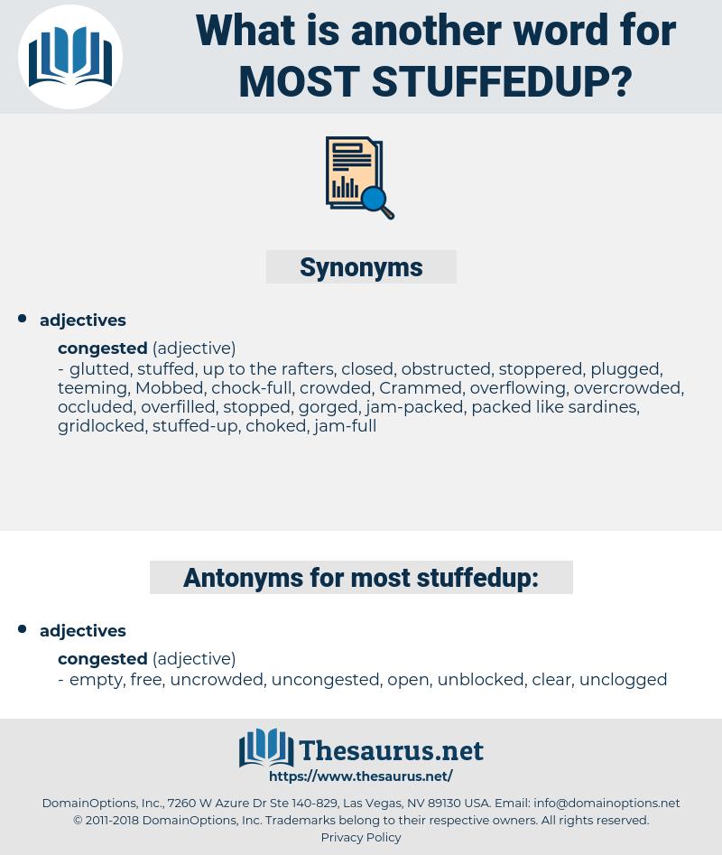 most stuffedup, synonym most stuffedup, another word for most stuffedup, words like most stuffedup, thesaurus most stuffedup