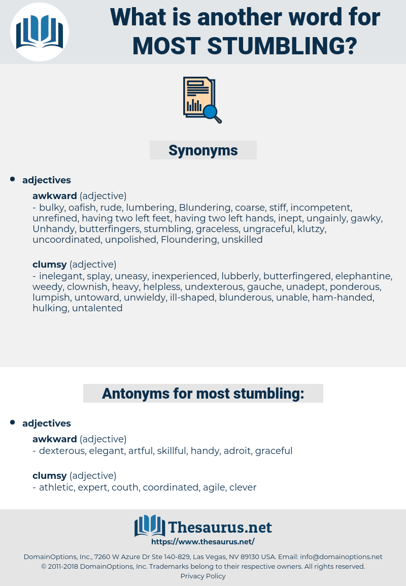 most stumbling, synonym most stumbling, another word for most stumbling, words like most stumbling, thesaurus most stumbling