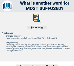 most suffused, synonym most suffused, another word for most suffused, words like most suffused, thesaurus most suffused