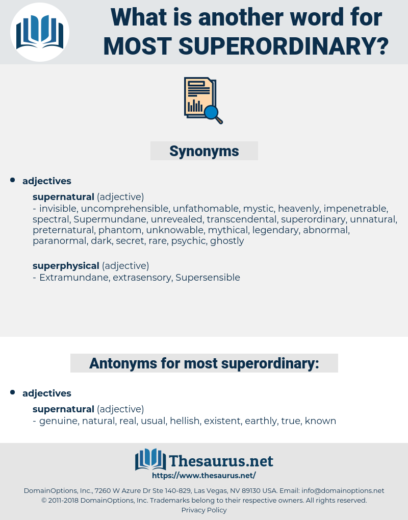 most superordinary, synonym most superordinary, another word for most superordinary, words like most superordinary, thesaurus most superordinary