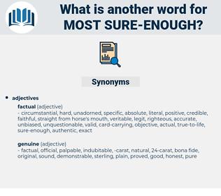 most sure enough, synonym most sure enough, another word for most sure enough, words like most sure enough, thesaurus most sure enough