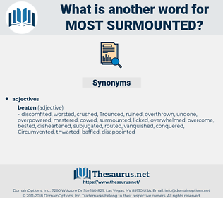most surmounted, synonym most surmounted, another word for most surmounted, words like most surmounted, thesaurus most surmounted