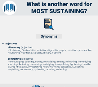 most sustaining, synonym most sustaining, another word for most sustaining, words like most sustaining, thesaurus most sustaining