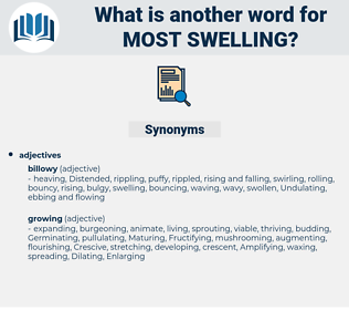 most swelling, synonym most swelling, another word for most swelling, words like most swelling, thesaurus most swelling