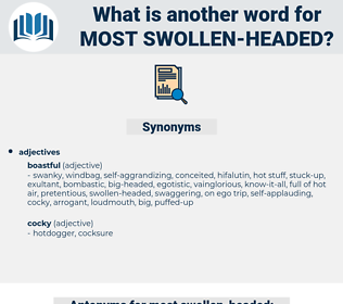 most swollen headed, synonym most swollen headed, another word for most swollen headed, words like most swollen headed, thesaurus most swollen headed