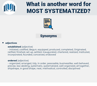 most systematized, synonym most systematized, another word for most systematized, words like most systematized, thesaurus most systematized