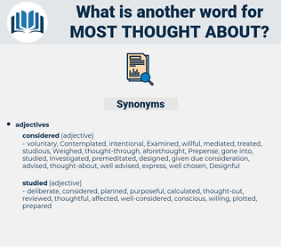 most thought about, synonym most thought about, another word for most thought about, words like most thought about, thesaurus most thought about