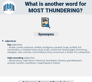 most thundering, synonym most thundering, another word for most thundering, words like most thundering, thesaurus most thundering