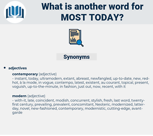 most today, synonym most today, another word for most today, words like most today, thesaurus most today