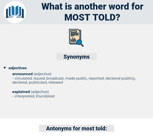 most told, synonym most told, another word for most told, words like most told, thesaurus most told