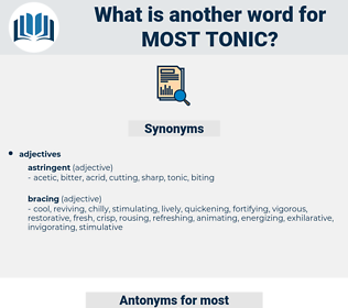 most tonic, synonym most tonic, another word for most tonic, words like most tonic, thesaurus most tonic