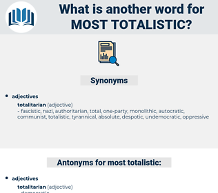 most totalistic, synonym most totalistic, another word for most totalistic, words like most totalistic, thesaurus most totalistic