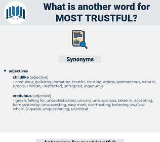 most trustful, synonym most trustful, another word for most trustful, words like most trustful, thesaurus most trustful