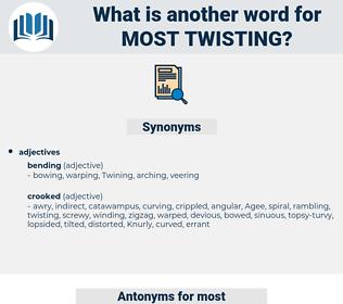 most twisting, synonym most twisting, another word for most twisting, words like most twisting, thesaurus most twisting