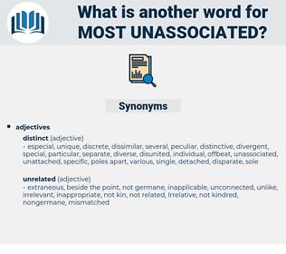most unassociated, synonym most unassociated, another word for most unassociated, words like most unassociated, thesaurus most unassociated