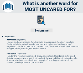 most uncared for, synonym most uncared for, another word for most uncared for, words like most uncared for, thesaurus most uncared for
